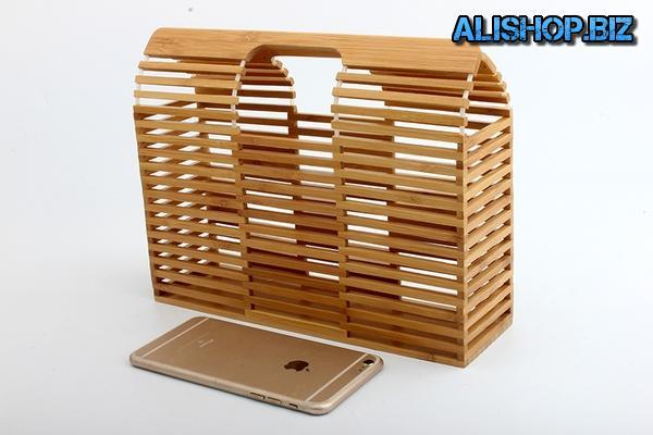 Пляжная сумочка из бамбука