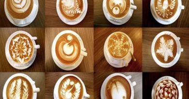 Набор трафаретов для создания рисунков на кофейной пенке