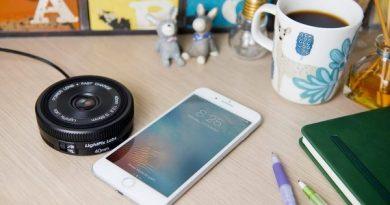 Беспроводная зарядка в виде фотообъектива Power Lens