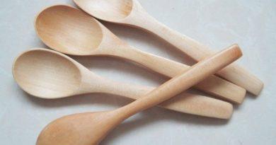 Набор экологически чистых деревянных ложек