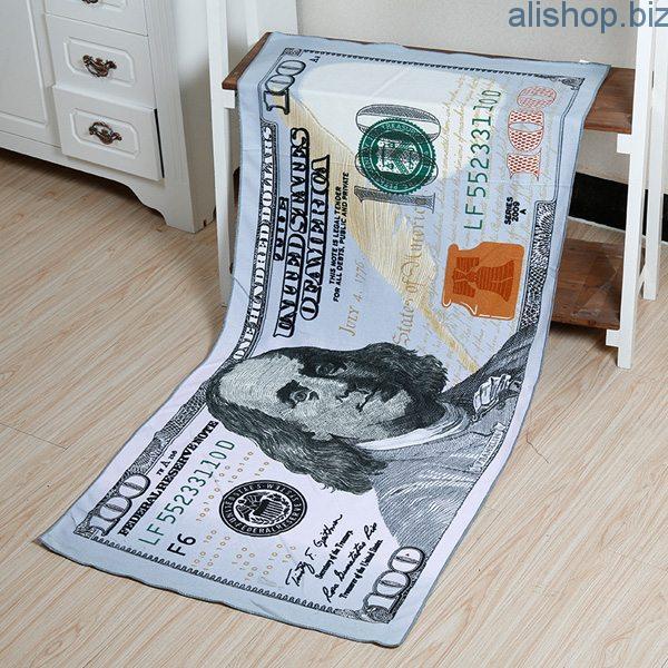 Пляжное полотенце в виде купюры $100