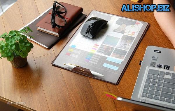 Коврик для мышки в виде планшета для записей