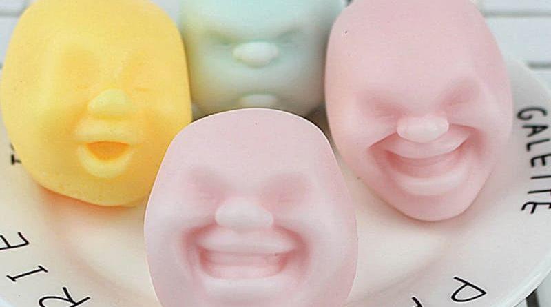 Антистрессовые мячики с человеческим лицом