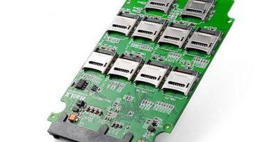 Адаптер для превращения 10 SD-карт в один SSD-диск