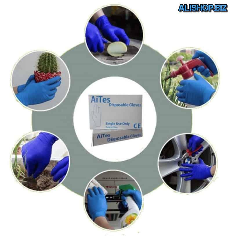Одноразовые перчатки из латекса DEWBest