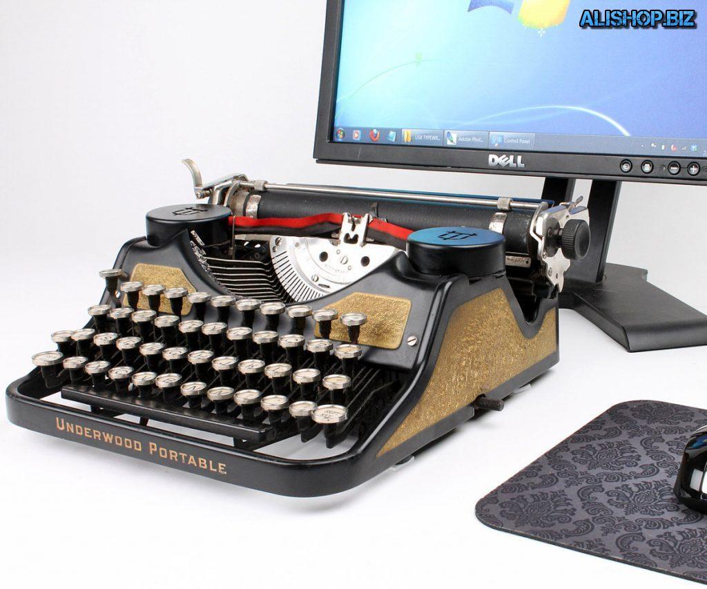 Etsy USB Typewriter: клавиатура в виде печатной машинки - для Apple iPad и ПК