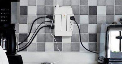 Поворотный электрический тройник с шестью розетками и двумя USB портами Space Plug