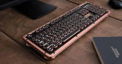 AZIO Retro Classic BT — беспроводная клавиатура с винтажным дизайном