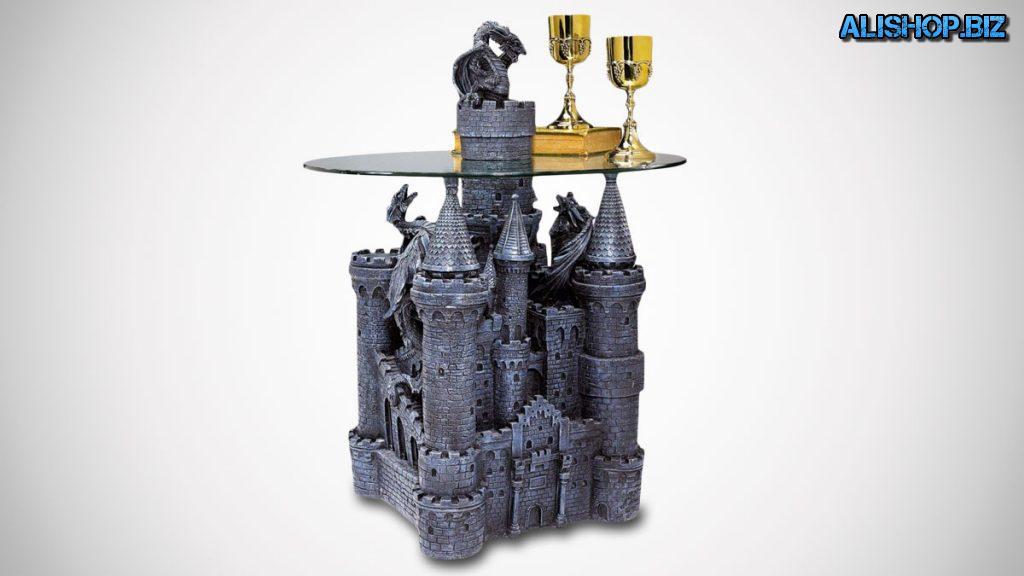 Скульптурный стеклянный стол в виде замка Лорда Лэнгтона от дизайнера Toscano