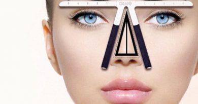 Линейка для геометрически точного макияжа бровей