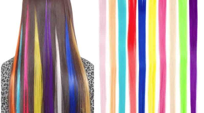Искусственные цветные пряди XCCOCO