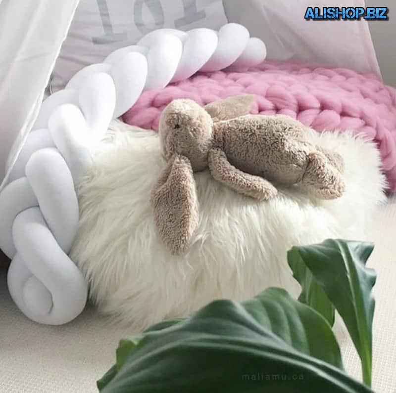 Плетёный бампер для детских кроваток из мягкого материала