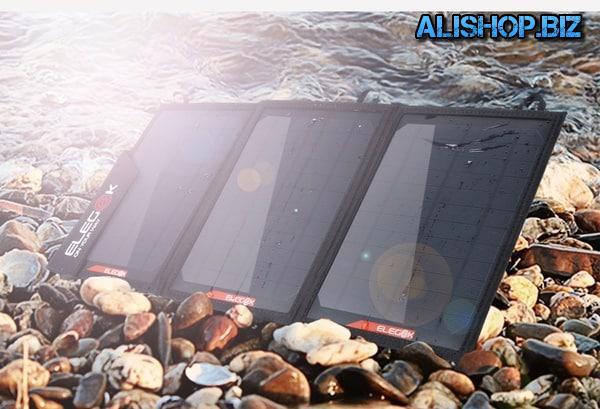 Раскладная солнечная панель с 2 выходами от Elegeek