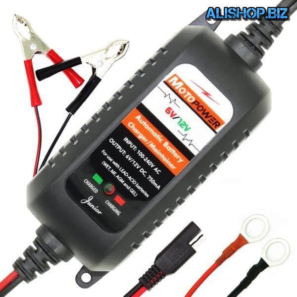 Автоматическая аккумуляторная зарядка Motopower