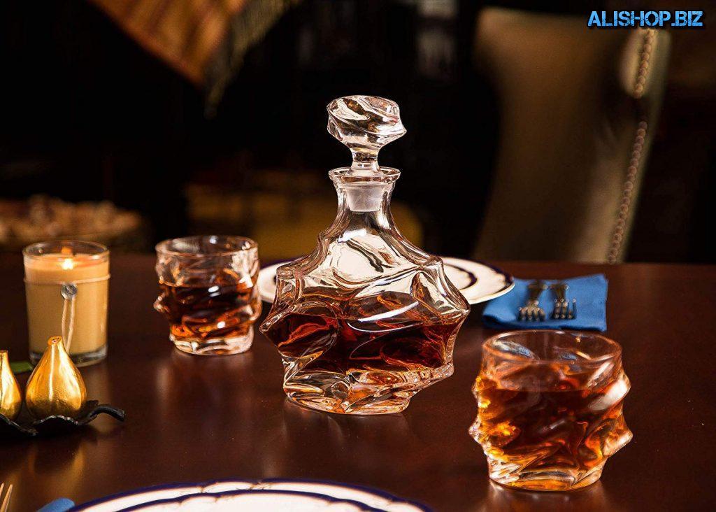 Стеклянный декантер для алкоголя « графин Эверест»