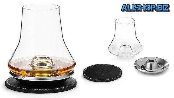 Дегустационный бокал для виски с охлаждающей подставкой