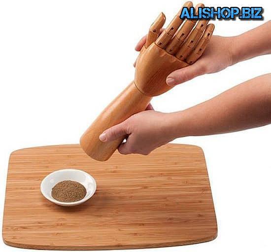 Мельницы для соли, перца и специй в виде руки