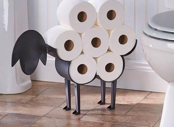 Стильная стойка для хранения туалетной бумаги в виде овечки
