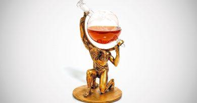 Стеклянный декантер для алкоголя «Графин Атлант»