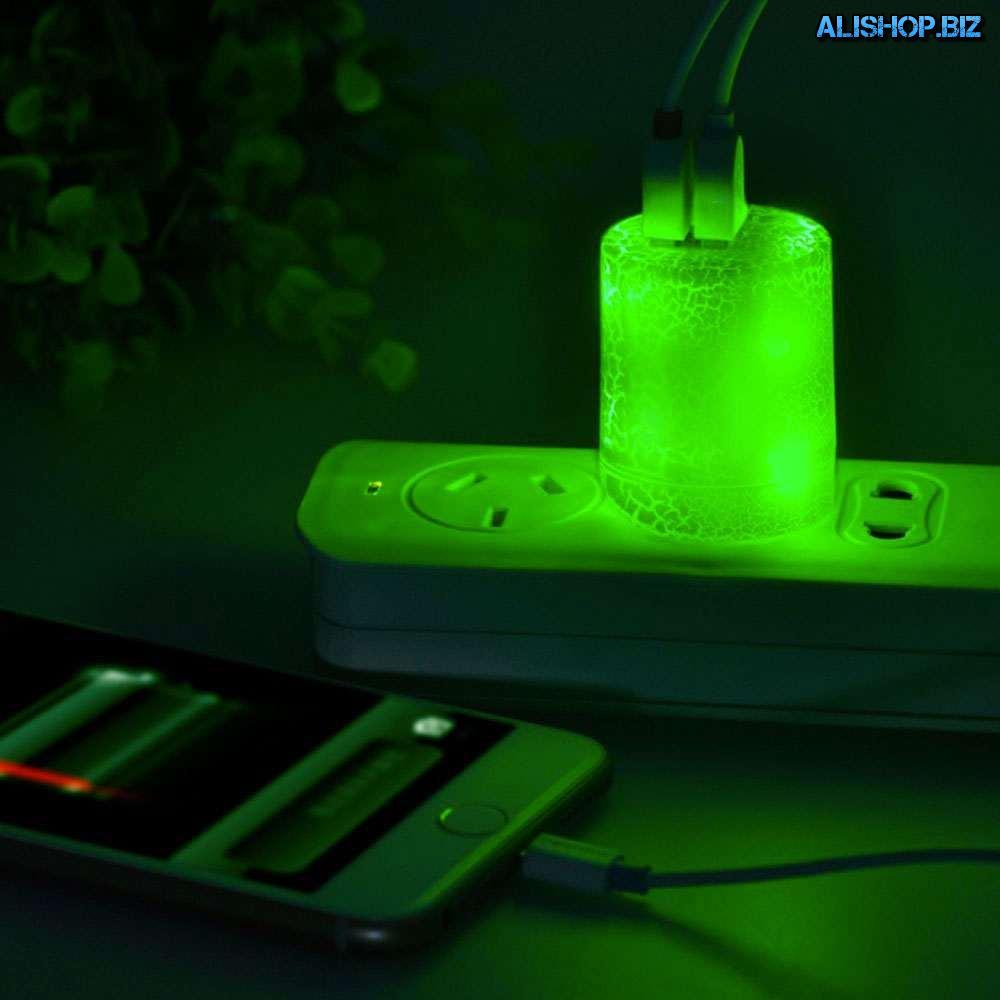 Двойной USB адаптер питания с эффектом электрической молнии