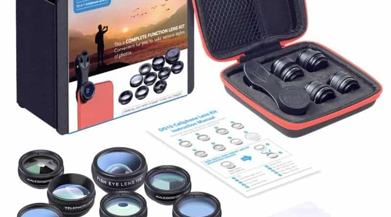 Набор из 10 сменных объективов для смартфонов Apexel