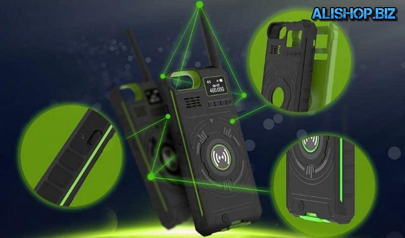 Protective case with the function powerbank and radio