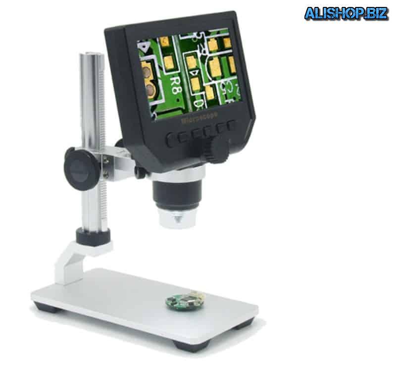 Цифровой микроскоп с цветным экраном