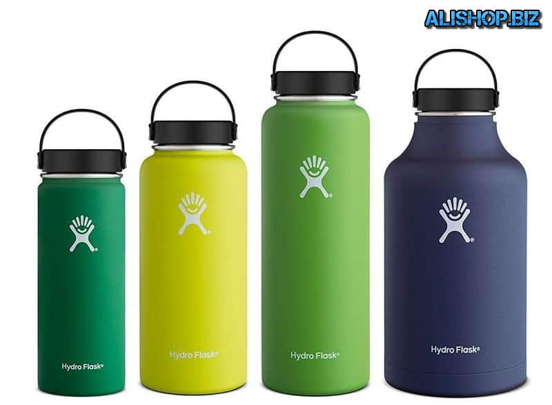 Water bottle with a wide neck Hydro Flask