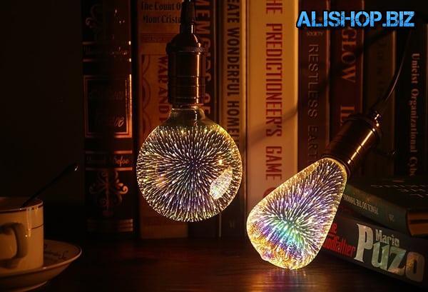 Лампочки с эффектом фейерверка