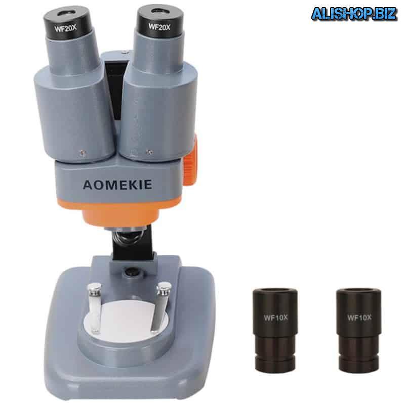 Бинокулярный микроскоп с LED-подсветкой