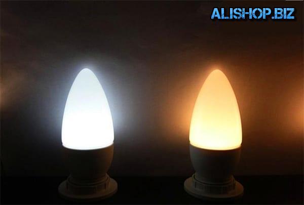 Лампочки в форме свечки