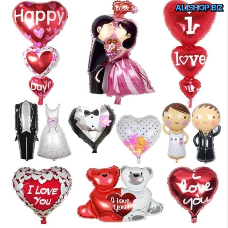 Balloons with romantic design