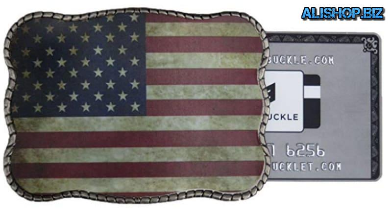 Buckle with secret storage Bank cards