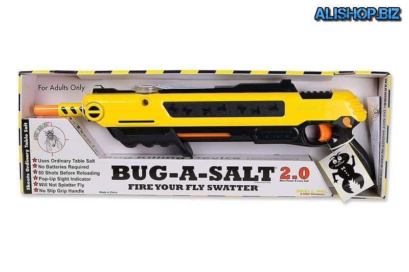 Unusual gun fly swatter Bug-A-Salt 2.0
