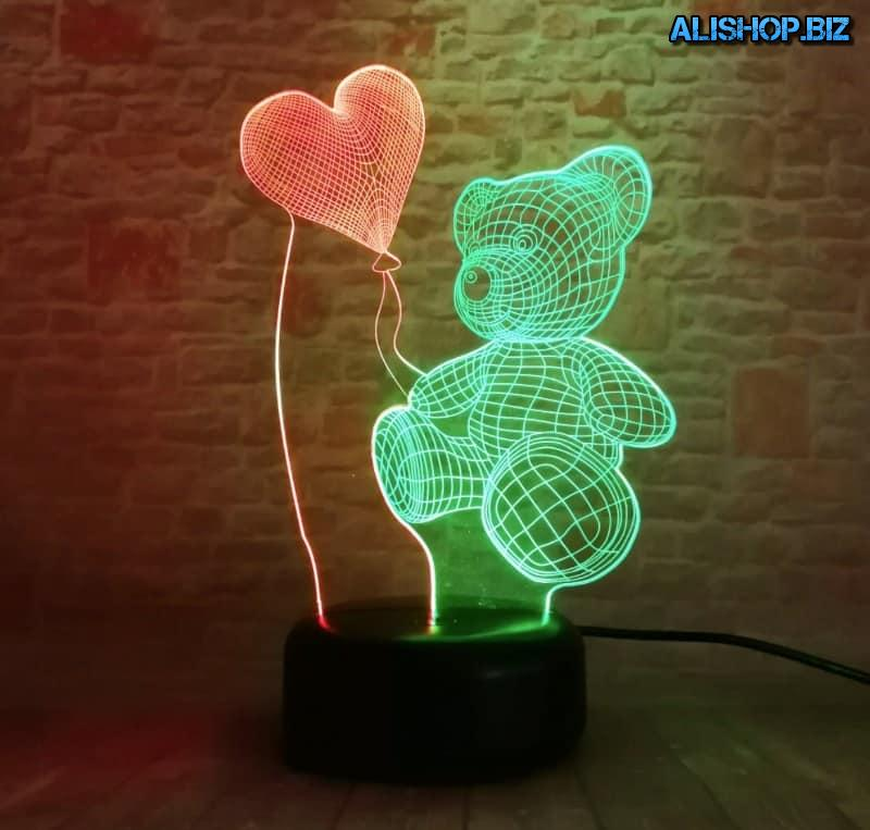 "3D-lamp ""Romantic bear"""