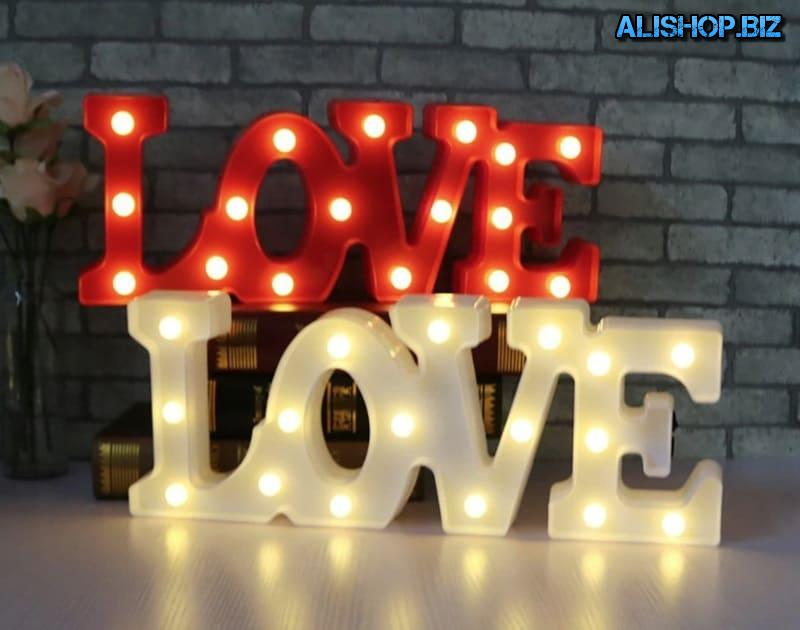 Led inscription Love