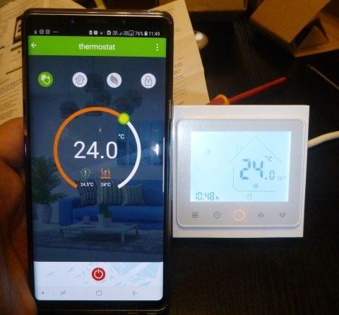Термостат с возможностью управления через wi-fi