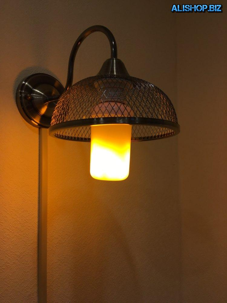 Lamps with a flame effect (under the base E14, E26, E27)