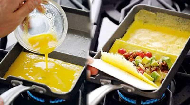 Сковорода для приготовления омлета с антипригарным покрытием