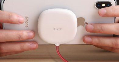 Беспроводное зарядное устройство на присосках от Baseus