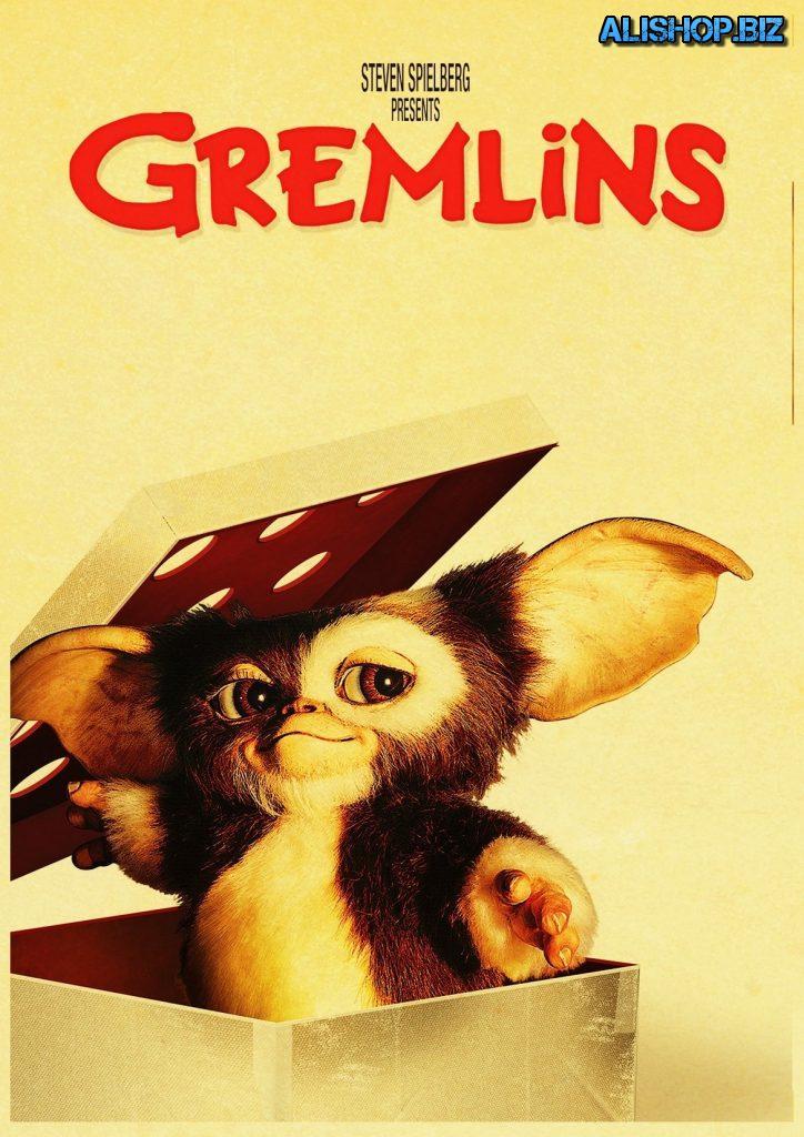 Постеры и наклейки с Гремлинами