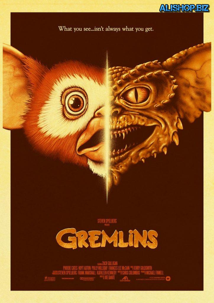 Posters and stickers with the Gremlins