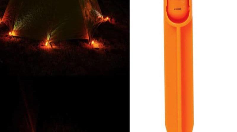 Колышек с LED-подсветкой для туристических палаток