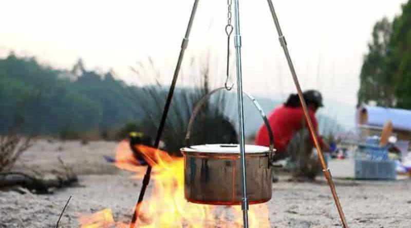 Походная тренога для готовки на костре