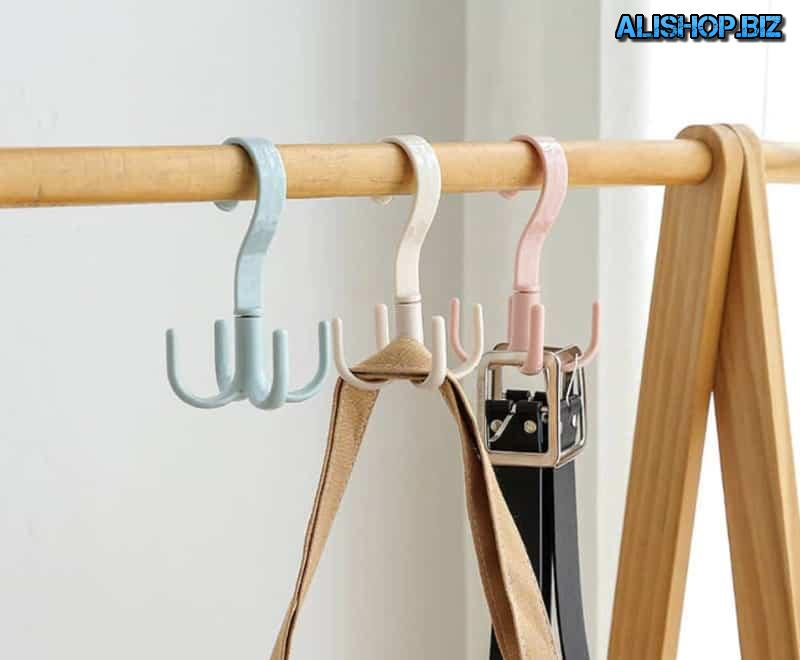 Swivel hook to save space