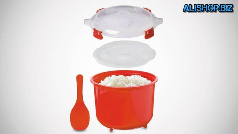 Container for cooking rice in the microwave Sistema
