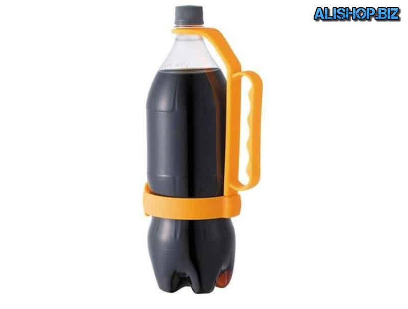 Handle for plastic bottles
