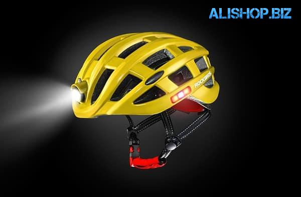 A helmet with a circular lighting system from RockBros