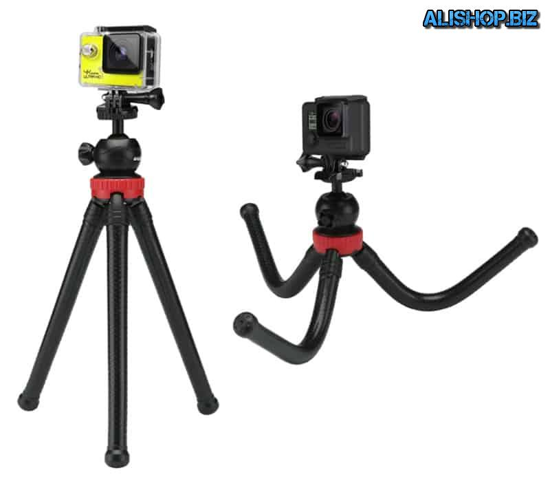 A tripod with flexible legs