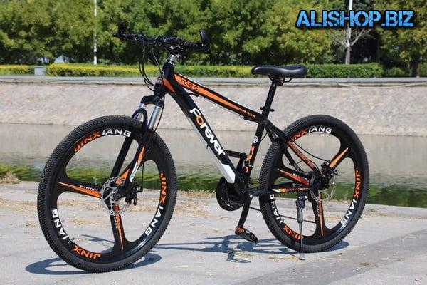 Bike on cast wheels Forever